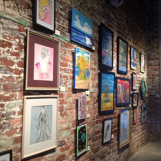 Come see us tomorrow! 25% off of this entire wall. #art #painting #shoplocal #chattanooga #decor #color #hartgallerytn