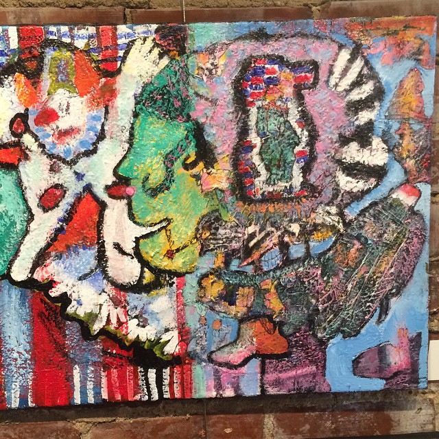 """Randall Gray is a self-taught """"apophenia"""" artist and North Carolina native. The local artist is a disabled vet of the Vietnam era, when he served as an intelligence specialist in Ethiopia. After his nervous breakdown following 9/11, he discovered painting. """"Painting saved me. Painting something that I think is good is the greatest pleasure that I receive these days."""" #hartgallery #art #shoplocal #nooga #chattanooga #painting"""
