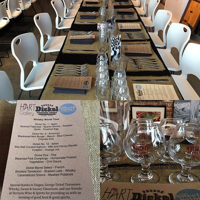 Intimate Whisky tasting preparation. #helpinghandsgallery #hartgallerytn #artwithpurpose #georgedickel #tnwhiskeyfestival #twf