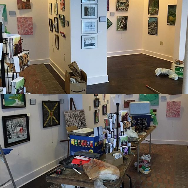 The end of day one set up#hartgallerytn #artwithpurpose #hartMEM