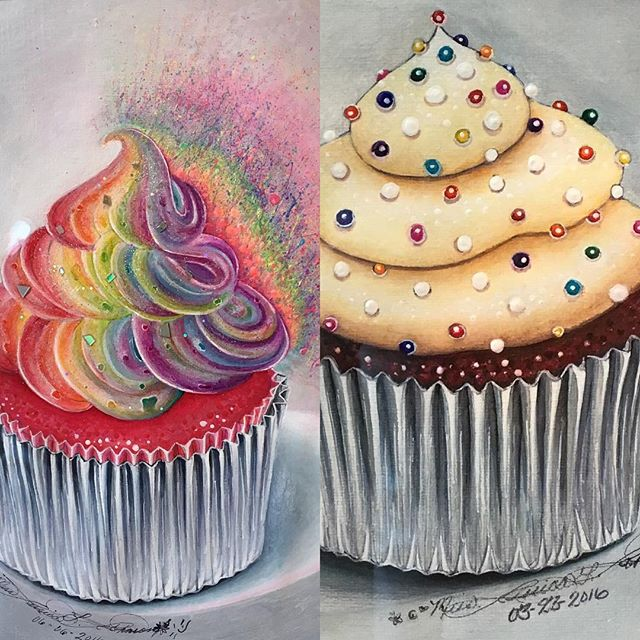 Who's hungry? These new pieces by Jessica Johnson look good enough to eat! #artwithapurpose #hartgallerytn #love cupcakes #hartCHA