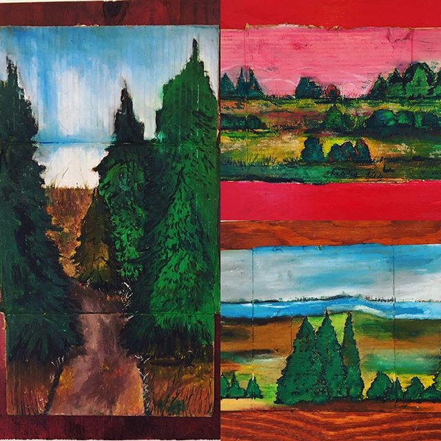 New works by Memphis artist, Theolia. Oil pastel on cardboard.#hartgallerytn #artwithapurpose #hartmem
