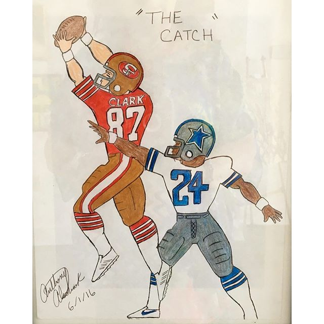 The Catch by Anthony Alsobrook, A Hart Gallery Artist.#hartgallerytn #givingtuesday#football #chagives