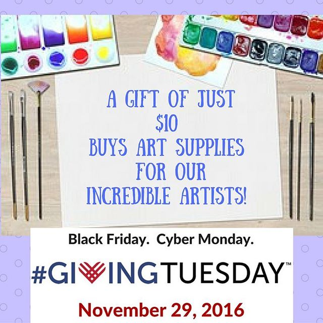 $5 will buy a drawing pad and just $10 buys a set of markers. Join us on #givingtuesday to support the artists and programs at Hart Gallery!#chagives #hartgallerytn www.youcaring.com/hart-gallery-673456