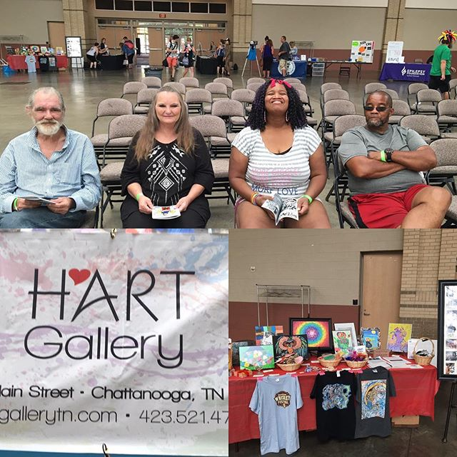 """A""""bout"""" to get this show going. Come out and support H*Art & the CHA Roller Girls #hartcha #chattanoogarollergirls #hartgallerytn #artwithpurpose"""