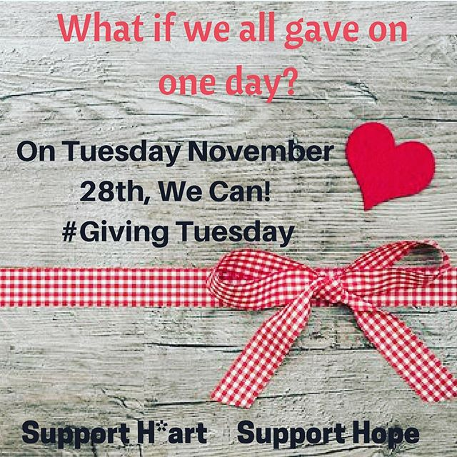 Mark your calendar for #givingtuesday as we raise money to support Hart Gallery and support hope!