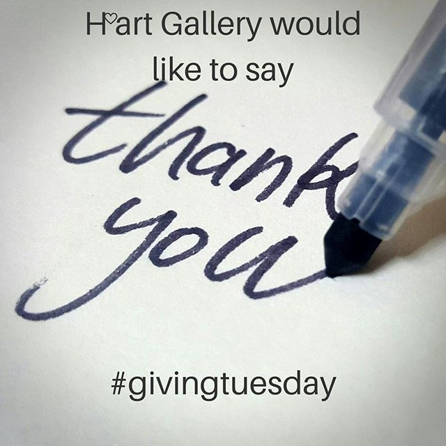 Thank you to everyone who so generously donated today for our #givingtuesday campaign! Your gift is really appreciated and keeps our programs going strong! You can give anytime at www.hartgallerytn.com#chagives #iamhart #givehope