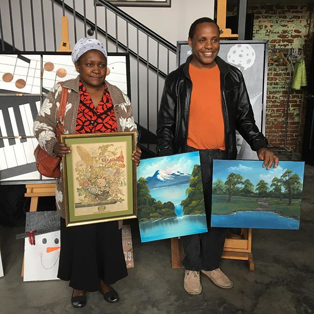 New art for Sammy & Lucy, newest HartHousewarming recipients. #hartgallerytn #harthousewarming #habitatforhumanity