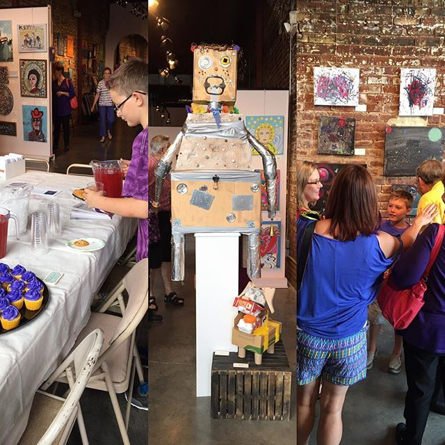 Studio E Art Exhibit happening now. Come on down! #artwithpurpose #hartcha #ourstudioe #epilepsyawareness #epilepsyfoundation #hartgallerytn